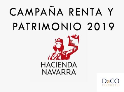 Cabecera Campaña Renta Navarra 2019 - Noticias DaCO Asesores